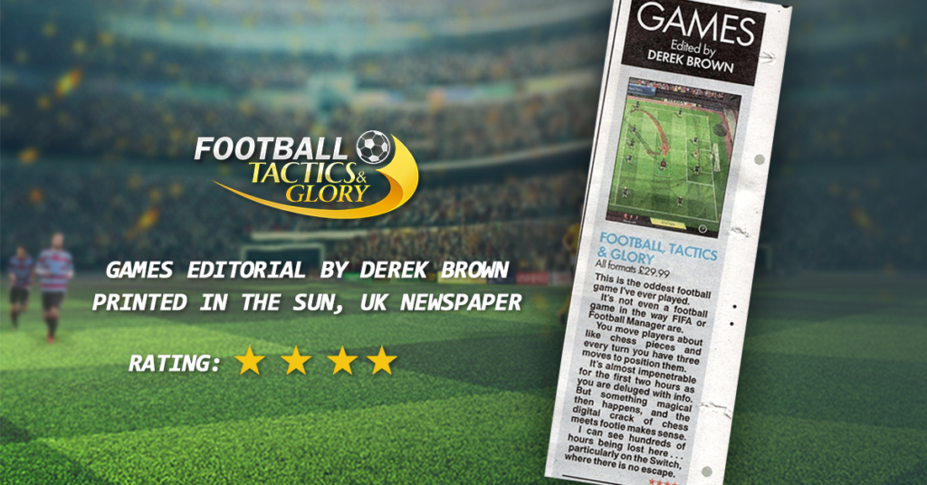 "British newspaper ""THE SUN"" talks about Football Tactics & Glory on consoles!"